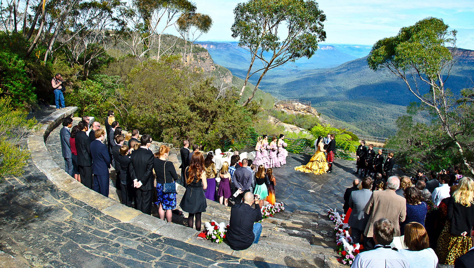 Wedding at Leura Weddings Amphitheatre